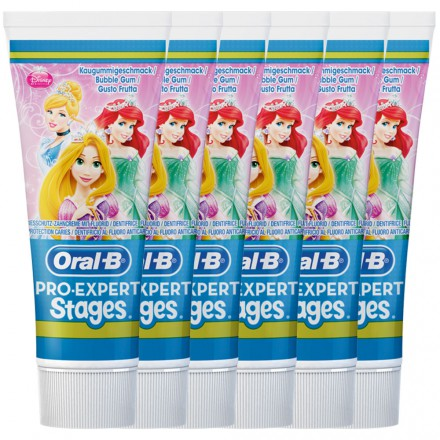 Oral-B Stages Kinderzahncreme Princess 75ml, 6er Pack