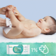 Pampers Pure Protection Monatspack: 102 St. Windeln Gr.1 + 864 St. Feuchttücher - <Titel>