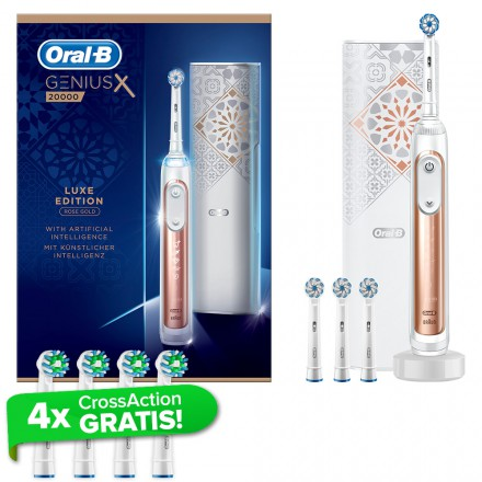 Oral-B GeniusX Luxe Edition Rosegold + gratis 4er CrossAction